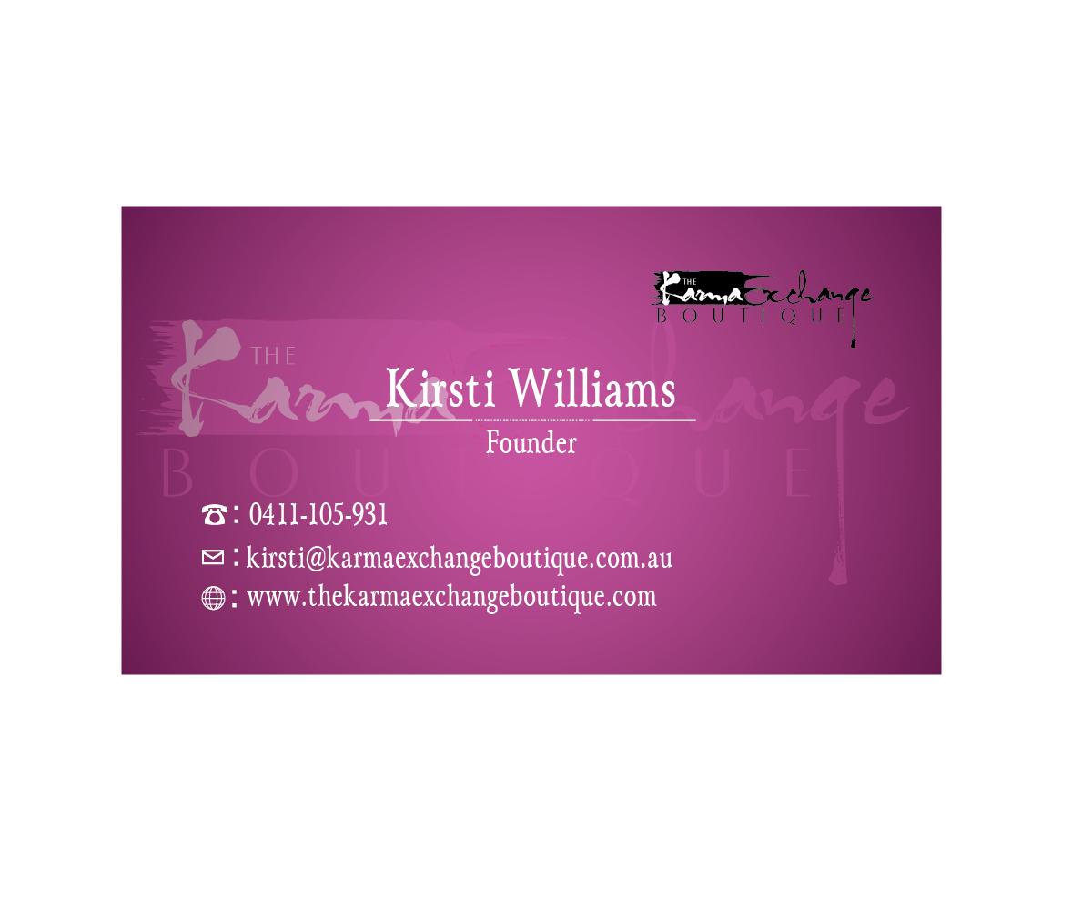 Conservative Upmarket Business Card Design For Kirsti