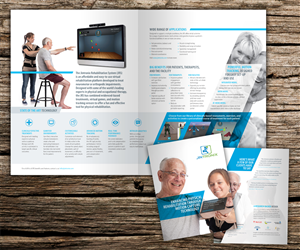 Brochure Design by Beckon Designs - 4 page brochure for startup in rehabilitation