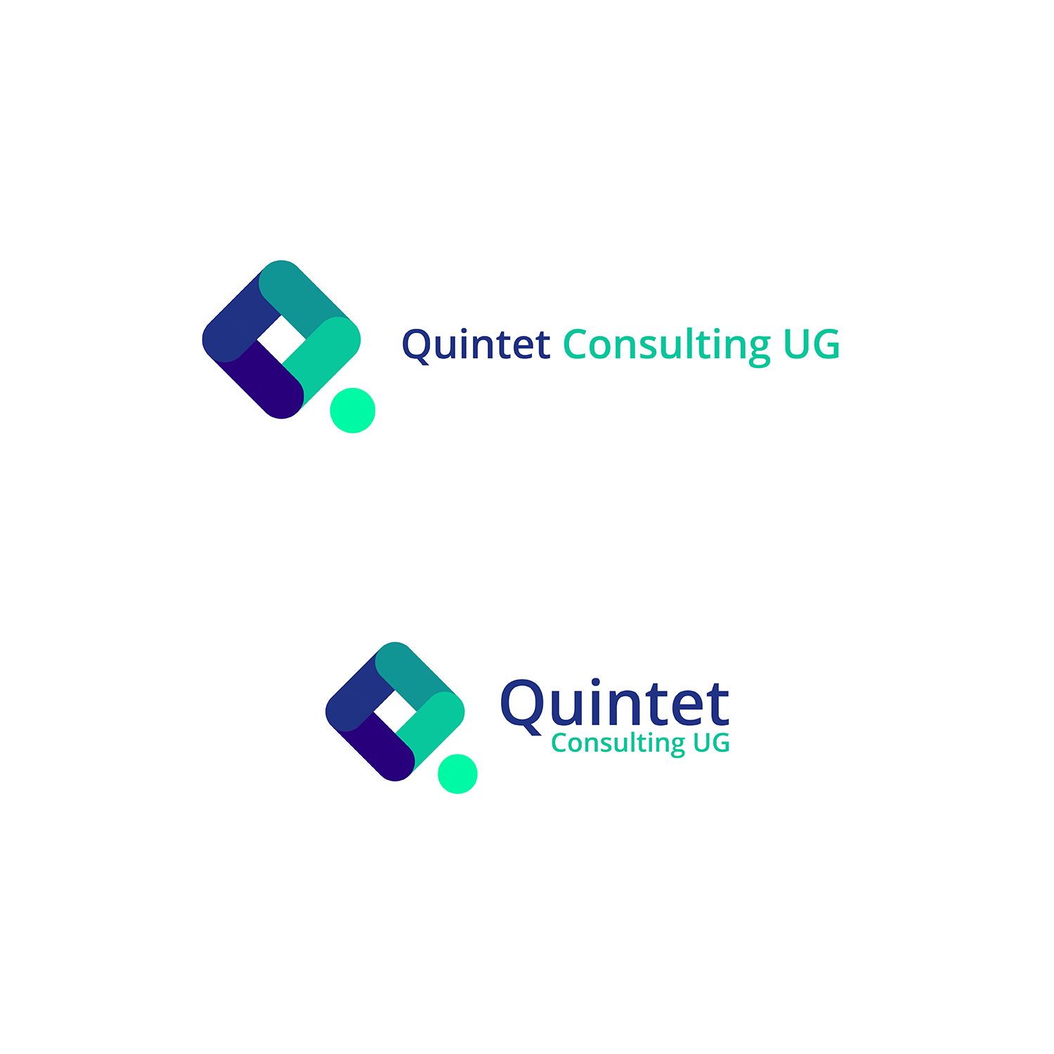 Elegant serious software development logo and business card design elegant serious software development logo and business card design for quintet consulting ug haftungsbeschraenkt in germany design 17691245 reheart Images