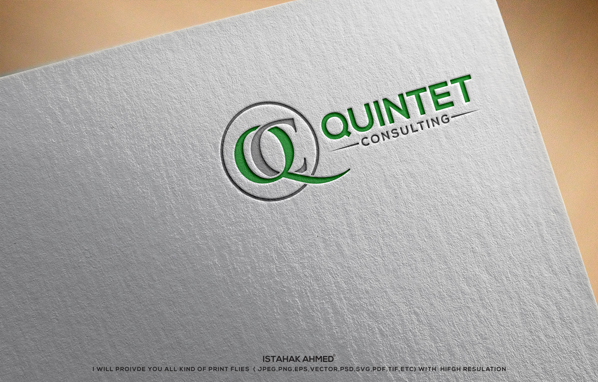 Elegant serious software development logo and business card design elegant serious software development logo and business card design for quintet consulting ug haftungsbeschraenkt in germany design 17667537 reheart Gallery