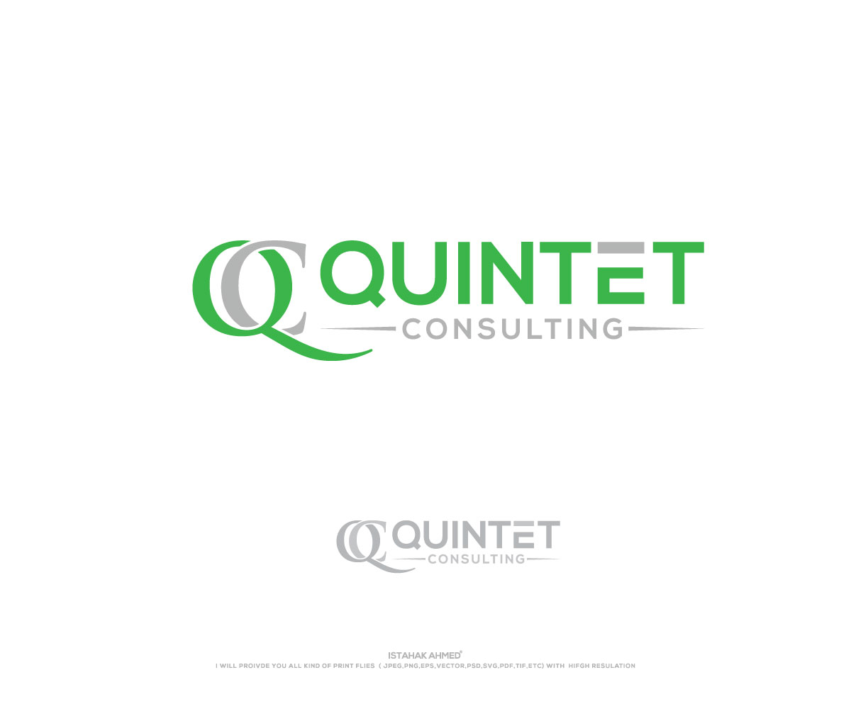 Elegant serious software development logo and business card design elegant serious software development logo and business card design for quintet consulting ug haftungsbeschraenkt in germany design 17735201 reheart Gallery