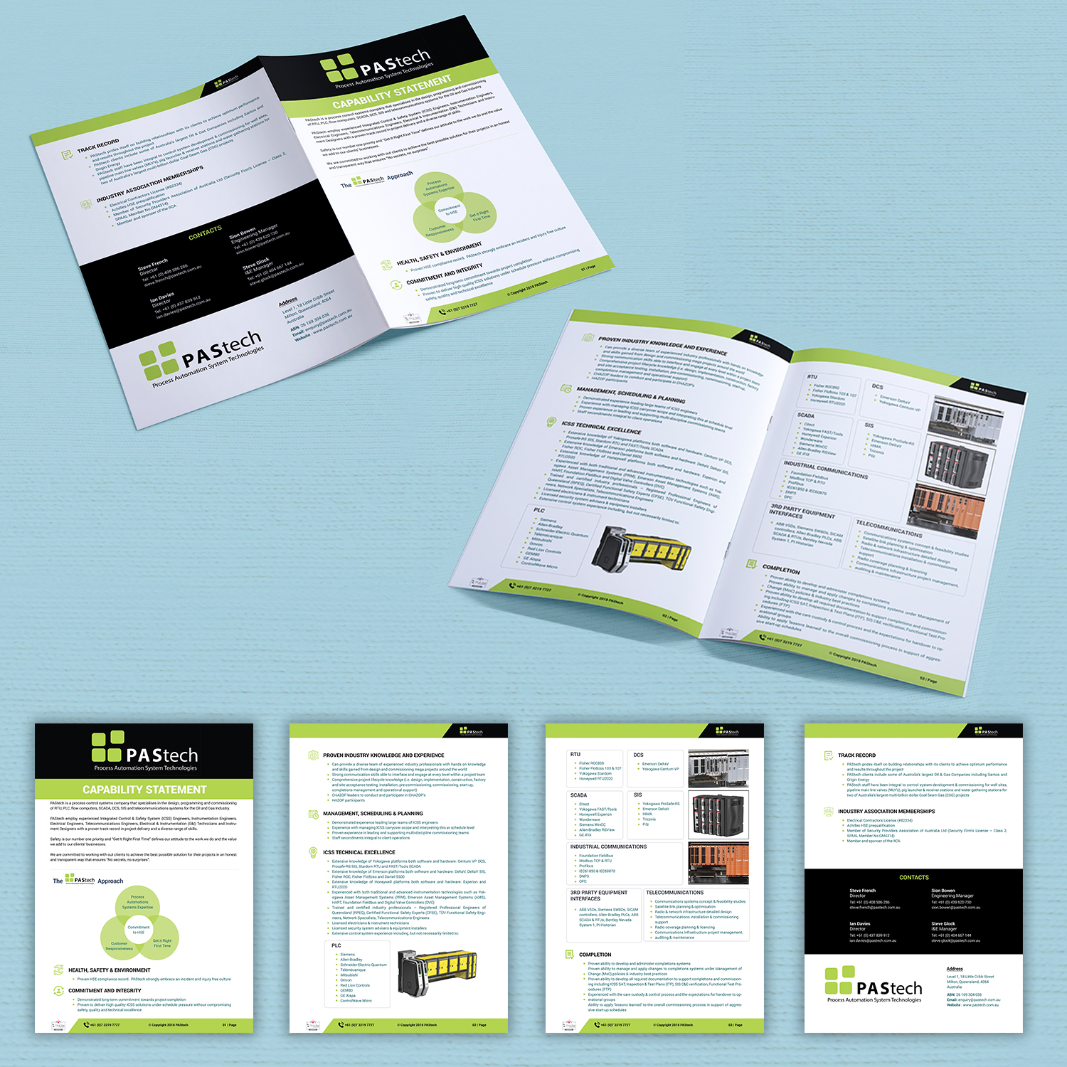 it professional brochure design for a company by vdb designs