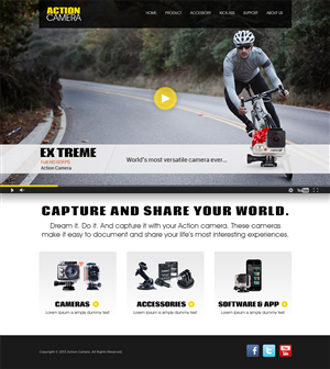 Wordpress Design by Mayank Patel - action camera website