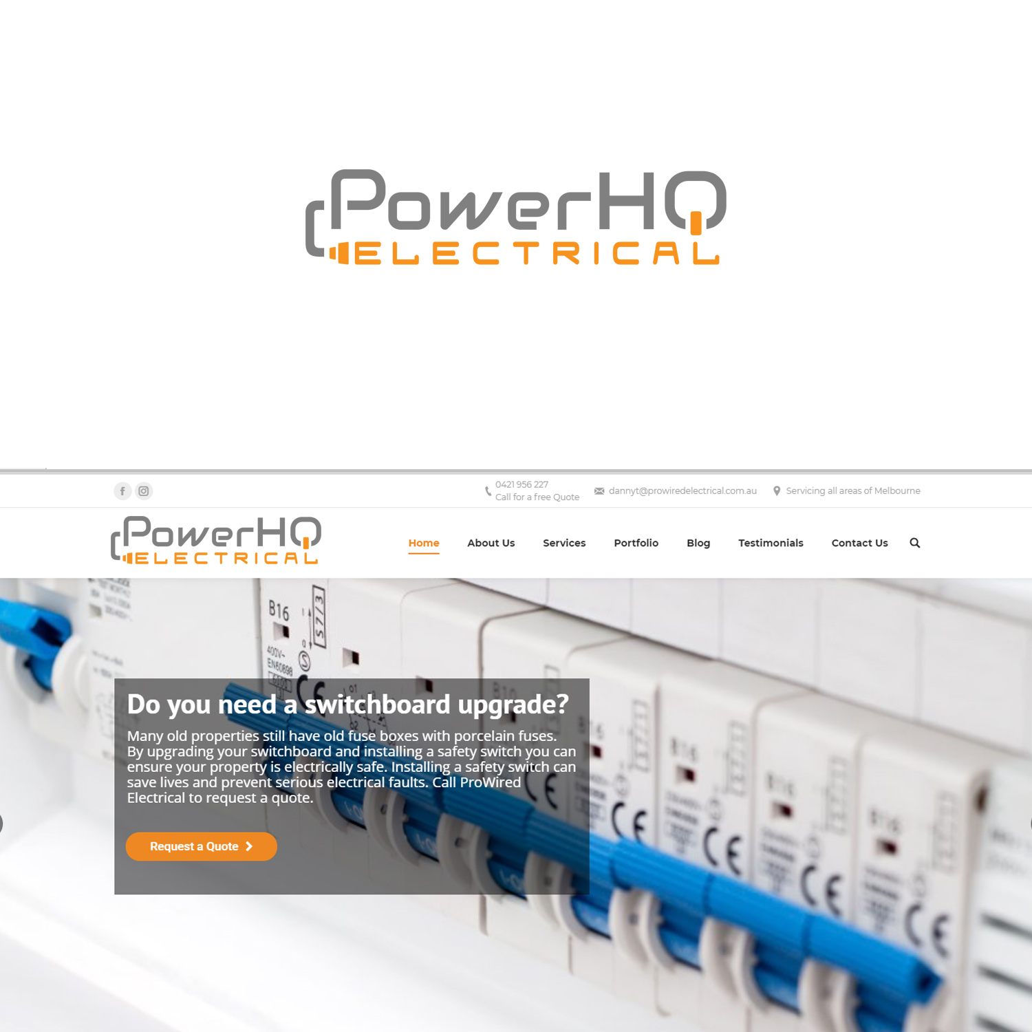 Modern Bold Electrician Logo Design For Powerhq Electrical By Upgrading Fuse Boxes Lesia Olesia Prowired 18592296
