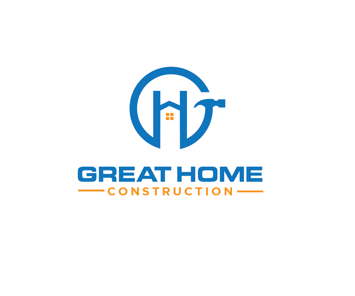 Construction Logo Design For Great Home Construction By Renderman Design 17677159