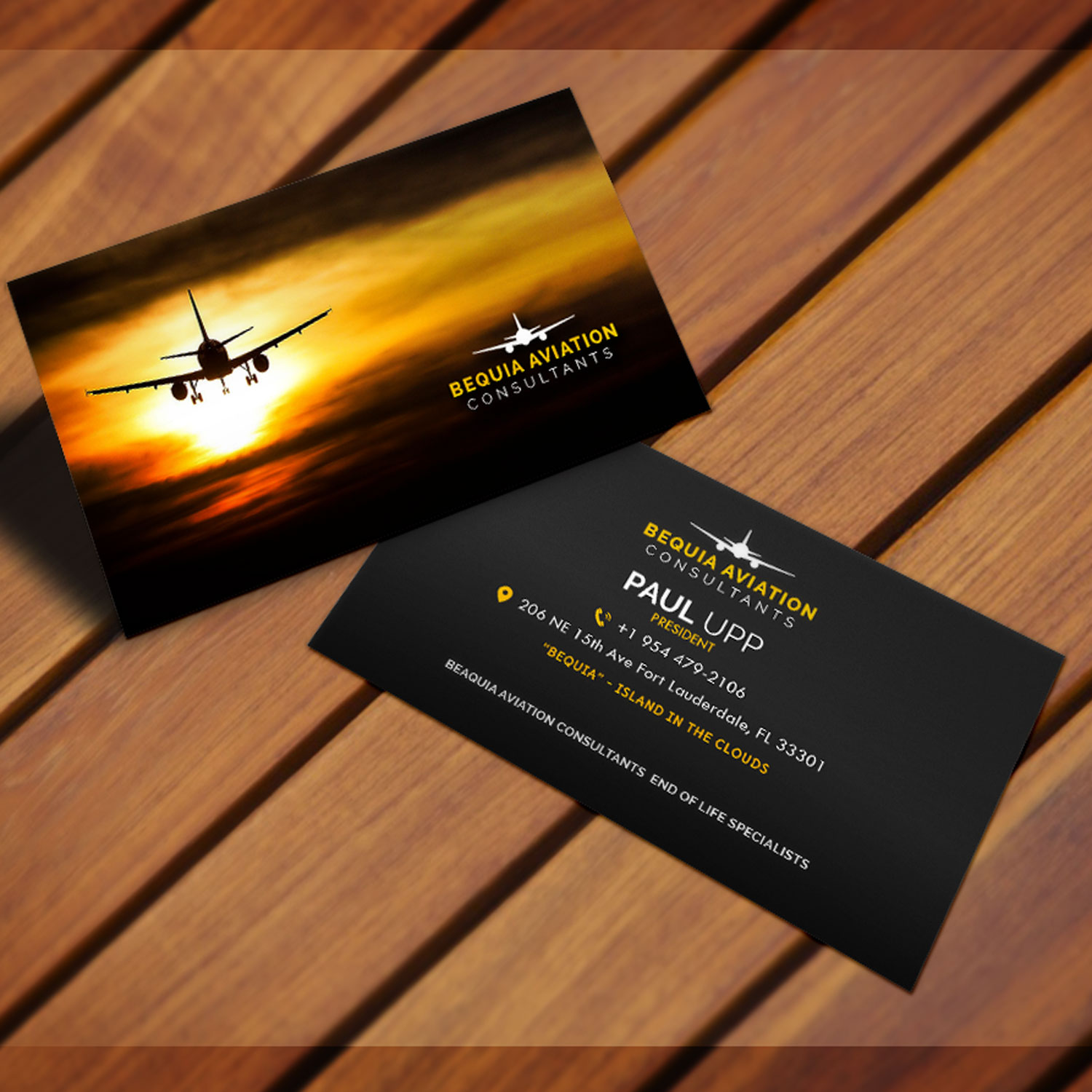 Professional upmarket aviation business card design for bequia business card design by xclusive designer for freedom path marketing design 17701570 colourmoves