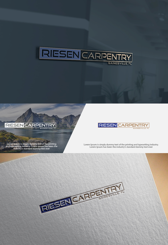 Conservative, Bold, Woodworking Logo Design for Riesen Carpentry ...