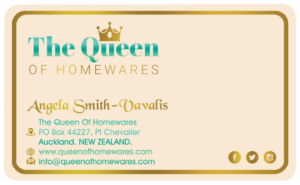 Online store business card design galleries for inspiration the queen of homewares is an online store specialising in all things for the home bathroom reheart Choice Image