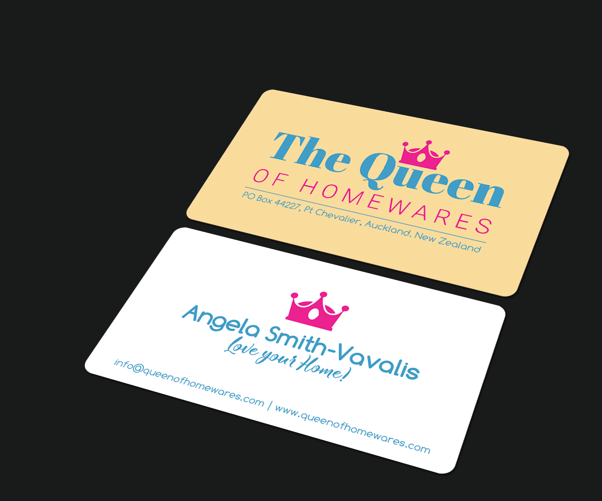 Business Card Design By JK18 For Queen Of Homewares