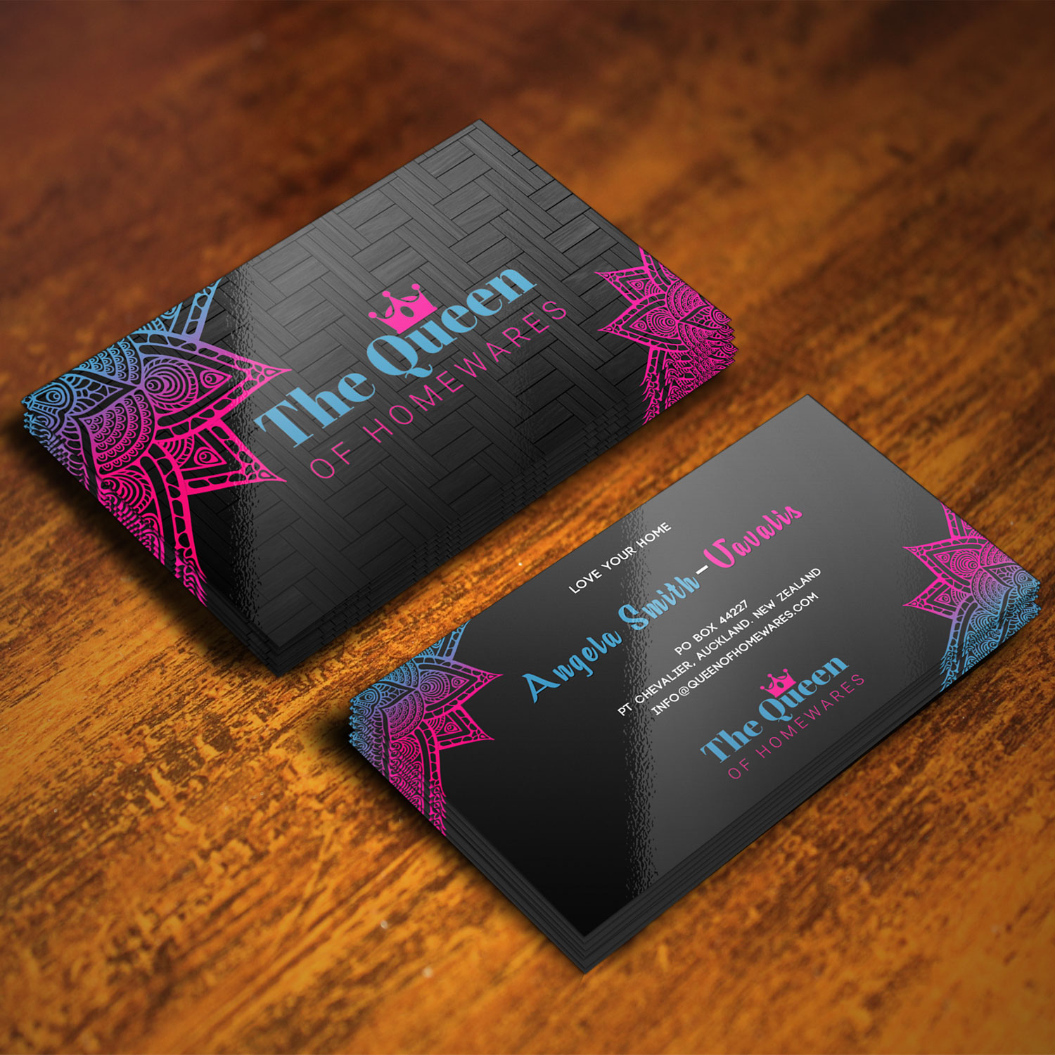 Business Card Design By Xclusive Designer For Queen Of Homewares
