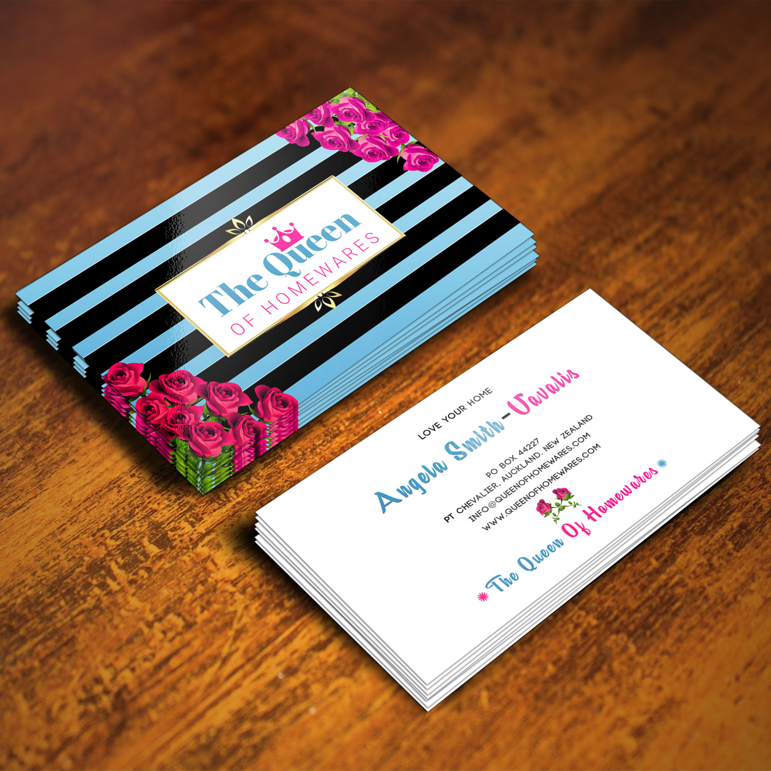 Upmarket bold business business card design for queen of homewares business card design by xclusive designer for queen of homewares design 17687603 reheart Image collections