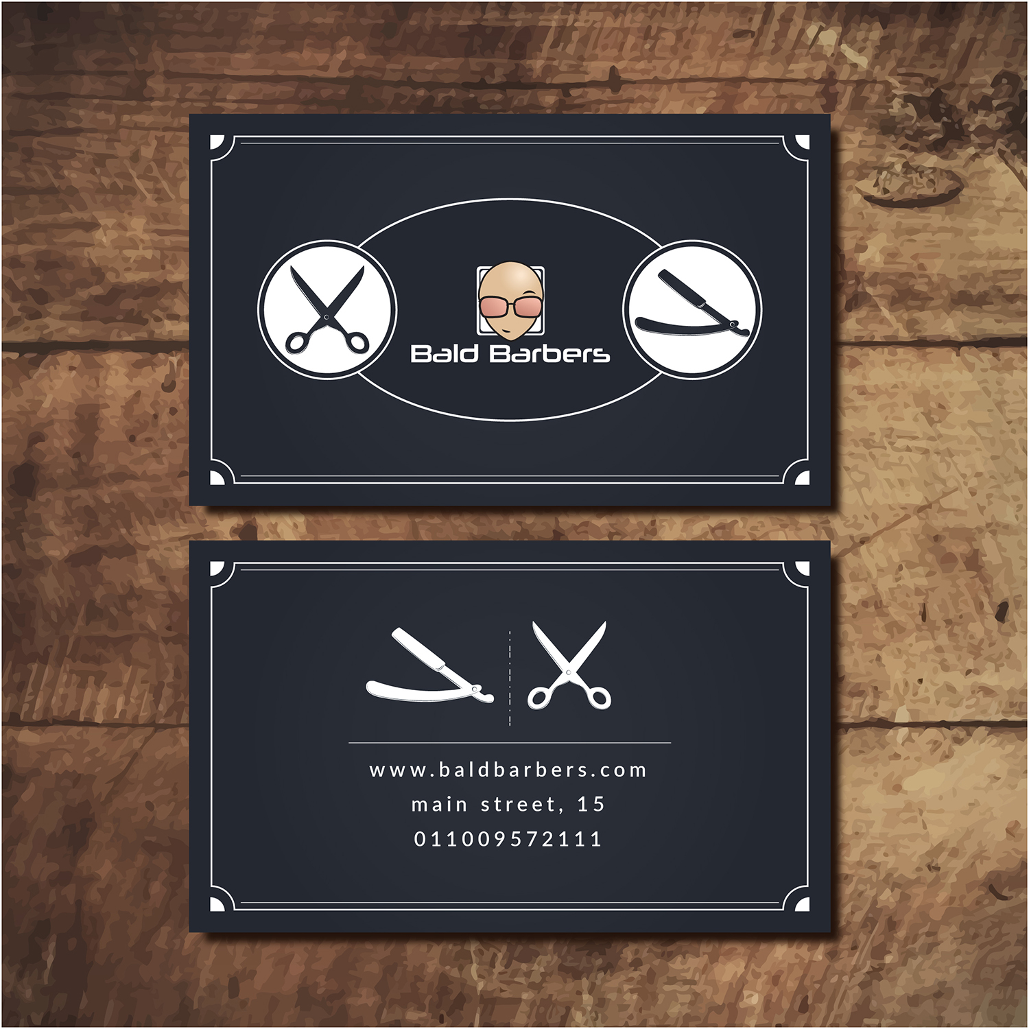Masculine, Upmarket, Hair Business Card Design for Bald Barbers by ...