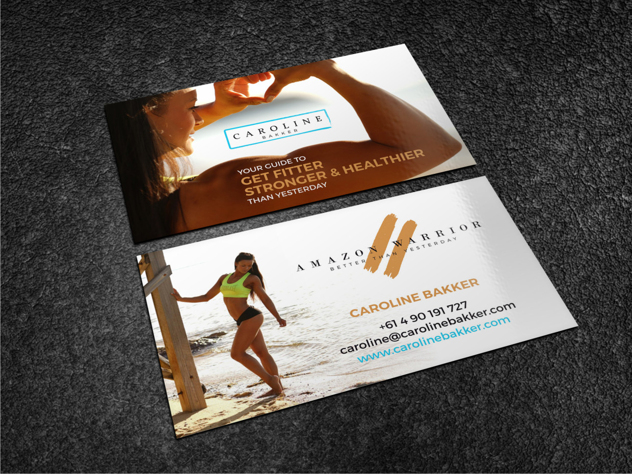 Upmarket, Colorful, Health And Wellness Business Card Design for ...