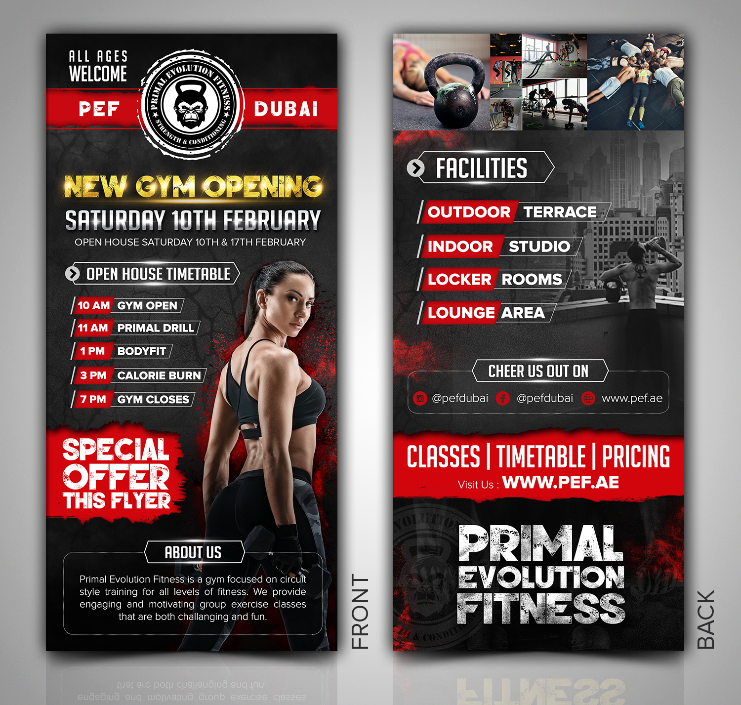 Fitness Flyer | Elegant Spielerisch Fitness Flyer Design Fur Primal Evolution