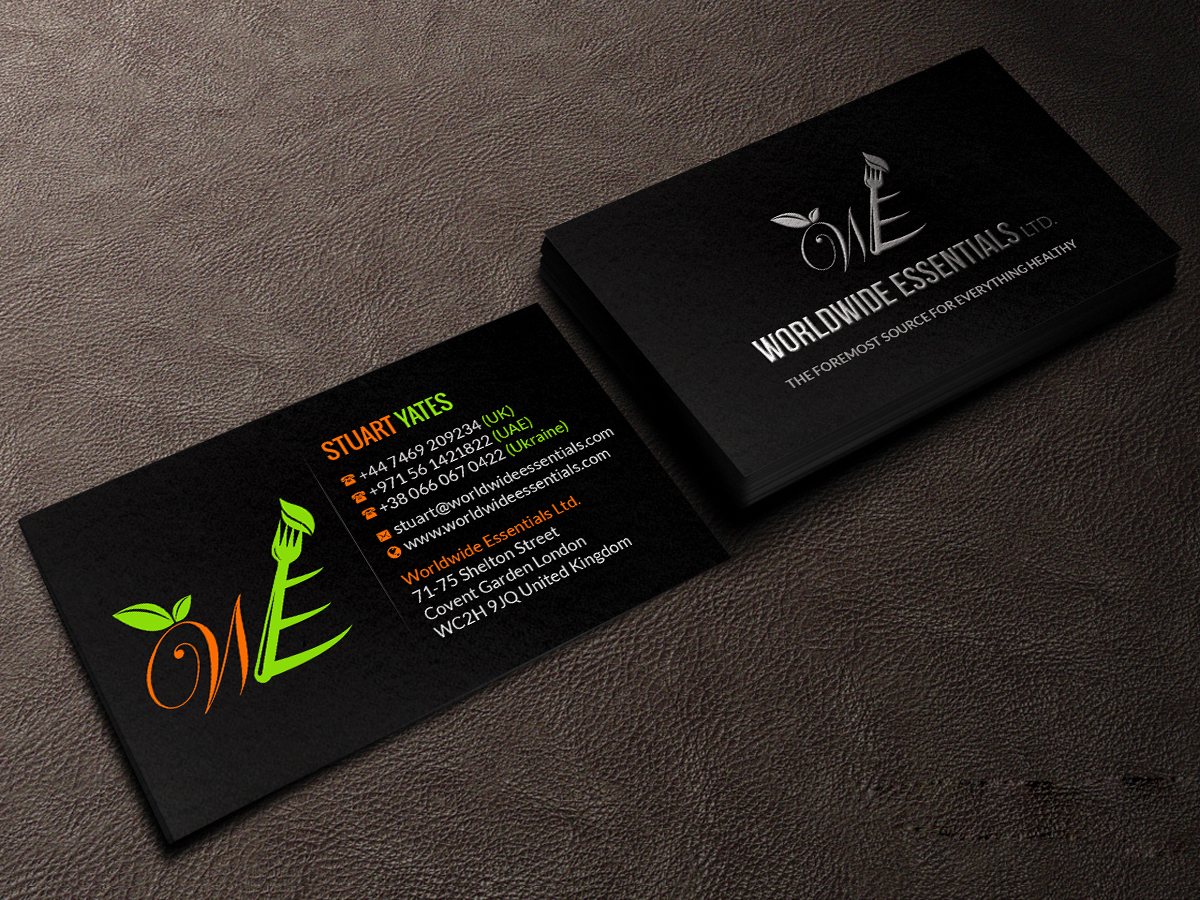 58 Serious Business Card Designs | Food Service Business Card Design ...
