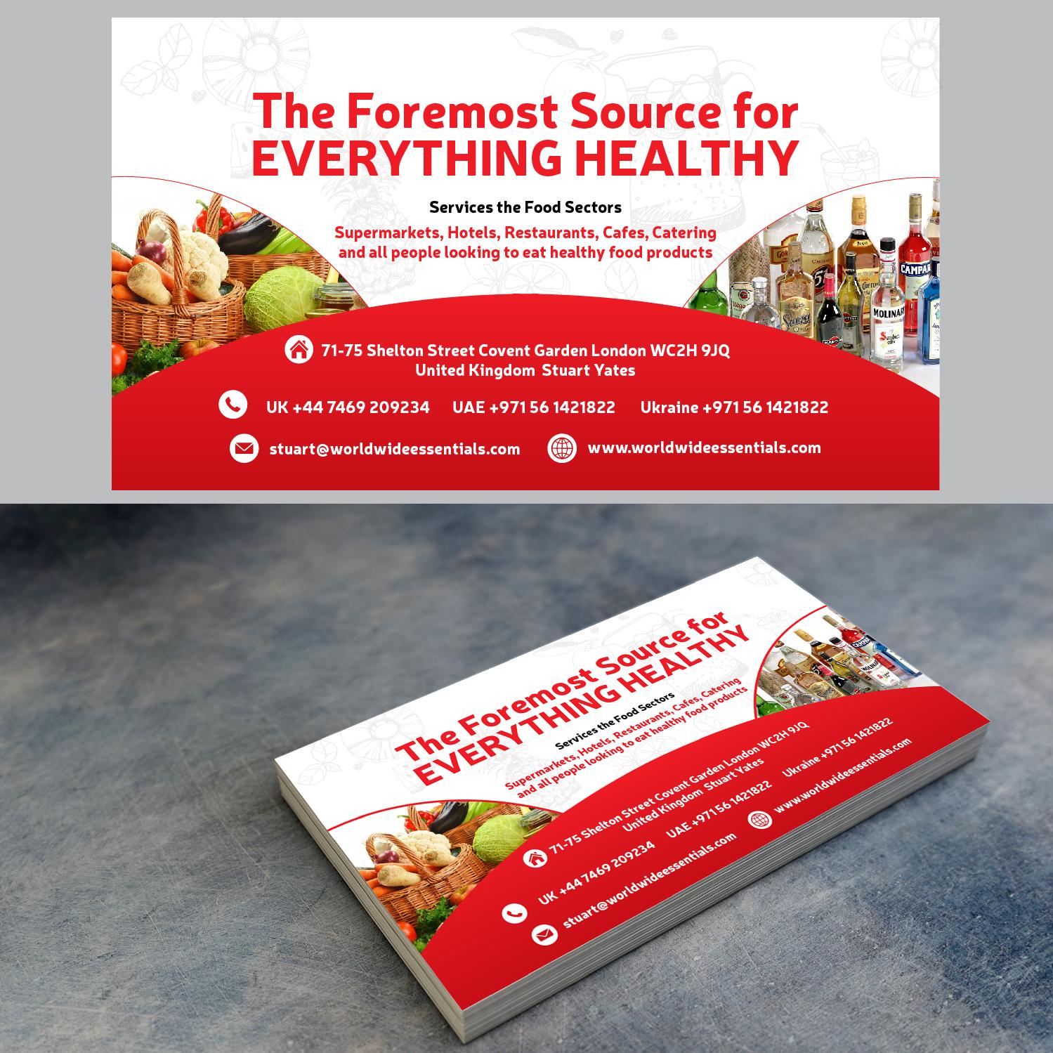 Food Service Business Card Design