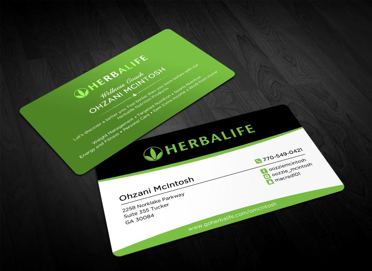 Relative Elegant Playful Nutrition Business Card Design For Herbalife IN42