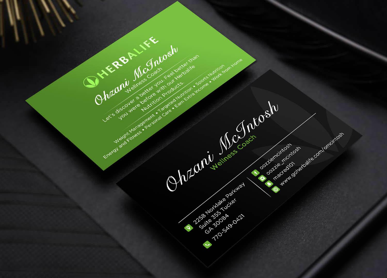 elegant  playful  nutrition business card design for