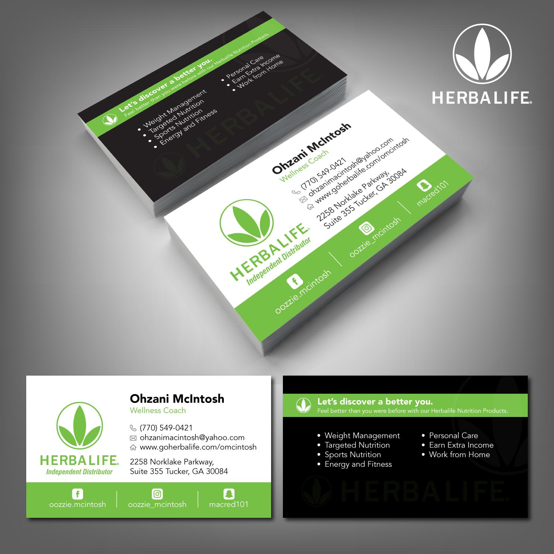 Elegant, Playful, Nutrition Business Card Design for Herbalife ...