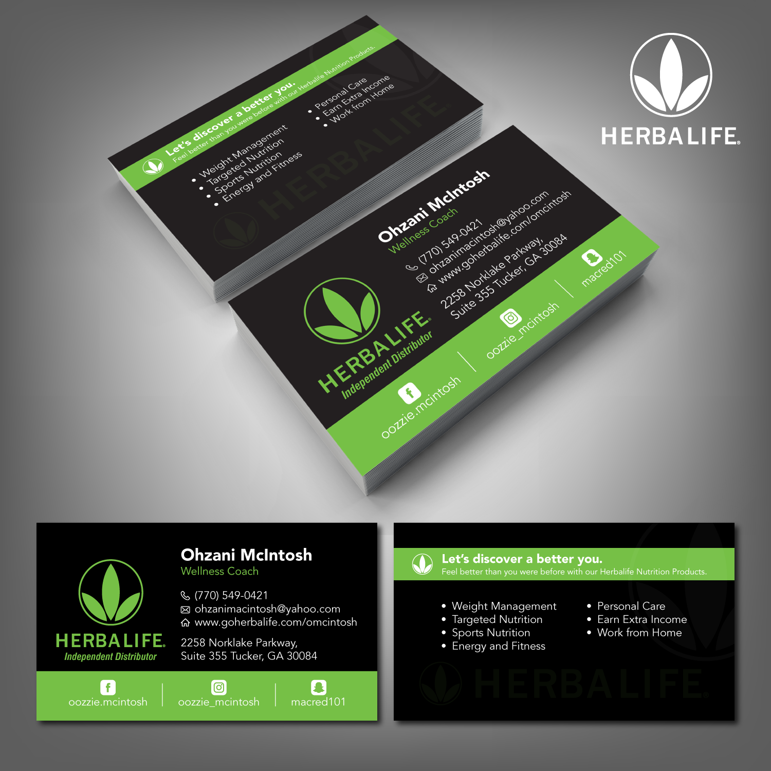 business card design by adiazudin for herbalife nutrition design 17813755 - Herbalife Business Cards
