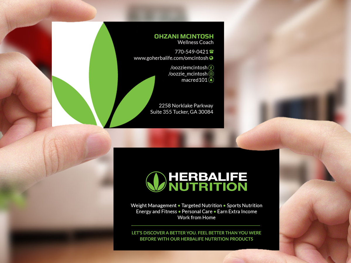 Design De Carte Visite Par Creations Box 2015 Pour Herbalife Nutrition