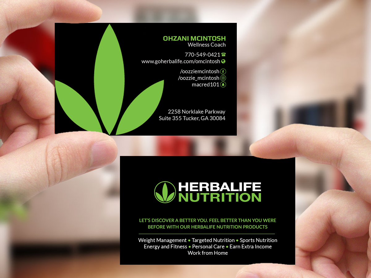 Elegant playful nutrition business card design for herbalife business card design by creations box 2015 for herbalife nutrition design 17819353 colourmoves