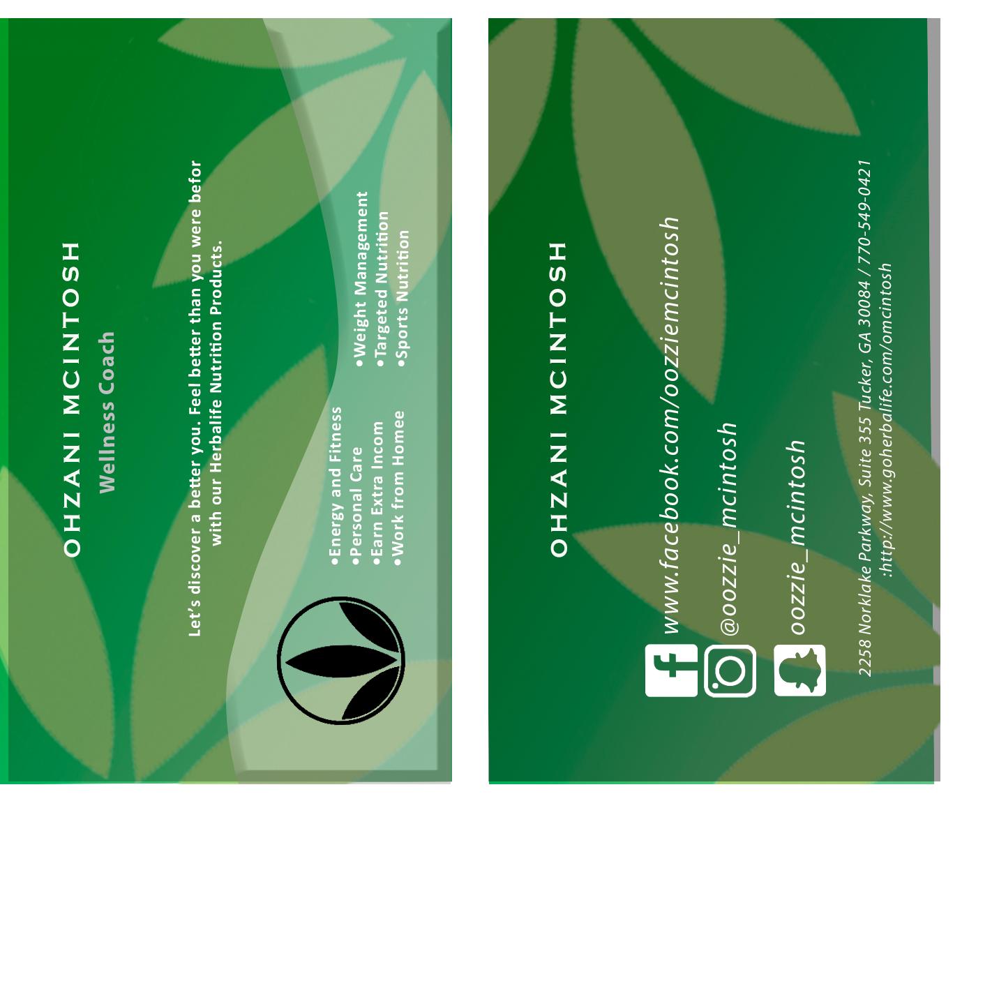Design De Carte Visite Par VicaV Pour Herbalife Nutrition