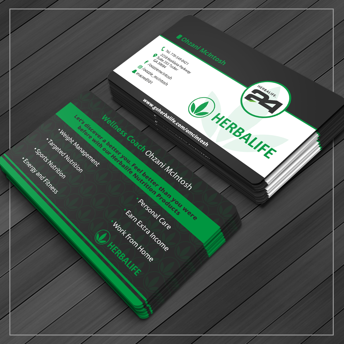 Business Card Design By Caio Designer For Herbalife Nutrition