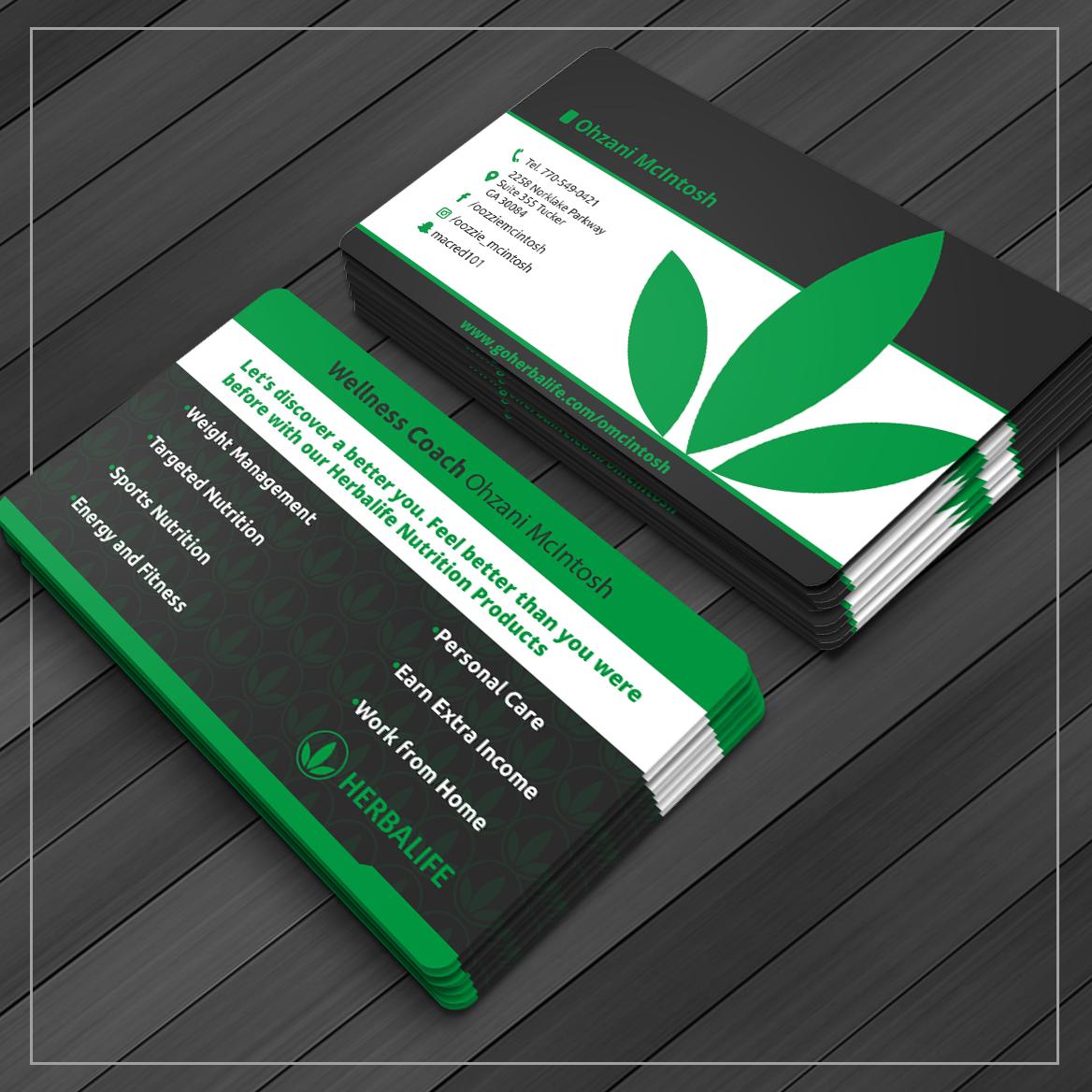 Design De Carte Visite Par Caio Designer Pour Herbalife Nutrition