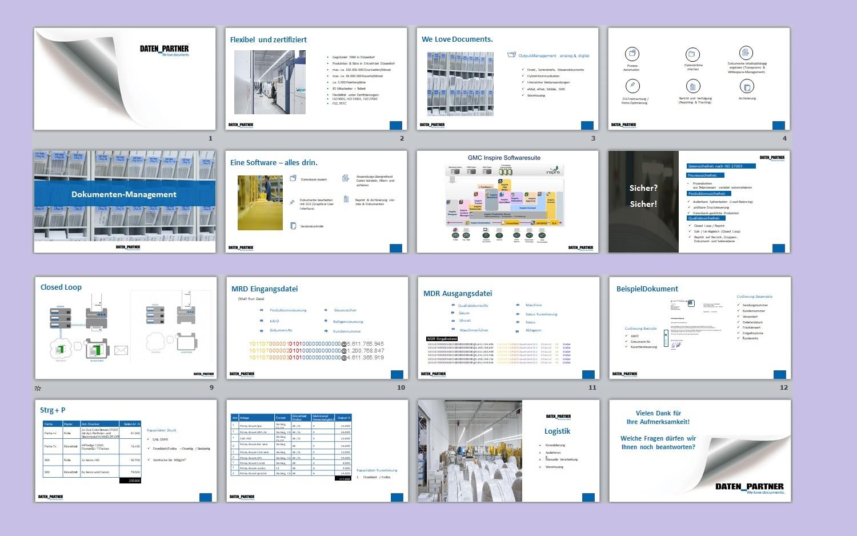 modern professional powerpoint design for daten_partner gmbh in germany design 17816913 - Firmenprasentation Muster