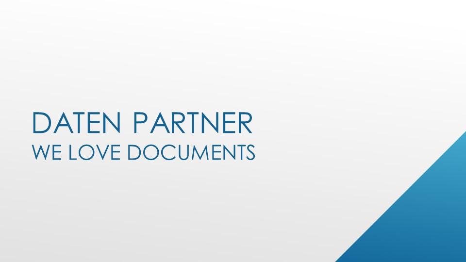 modern professional powerpoint design for daten_partner gmbh in germany design 17772663 - Firmenprasentation Muster