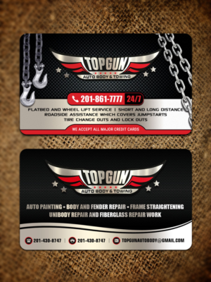 Shop business card designs 243 shop business cards to browse towing company card on one side and our autobody and collision repair shop card on the colourmoves