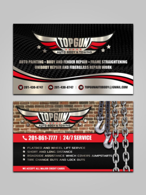 56 bold business card designs business business card design business card design by sandaruwan for topgun autobody and towing design 17730240 colourmoves