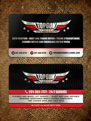 Bold serious business card design job business card brief for business card design job towing company card on one side and our autobody and collision colourmoves