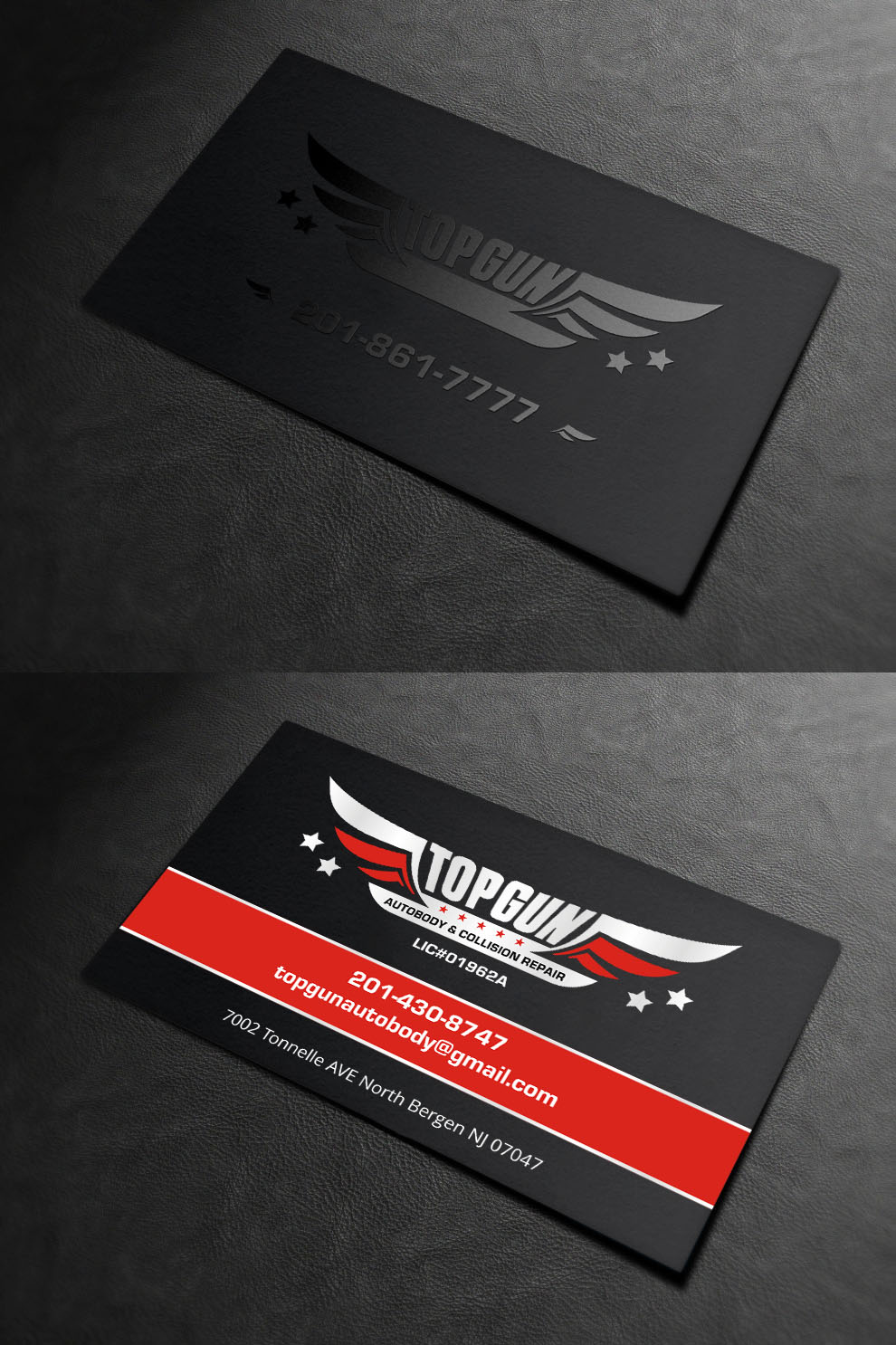 Bold serious business business card design for topgun autobody and bold serious business business card design for topgun autobody and towing in united states design 17745605 colourmoves