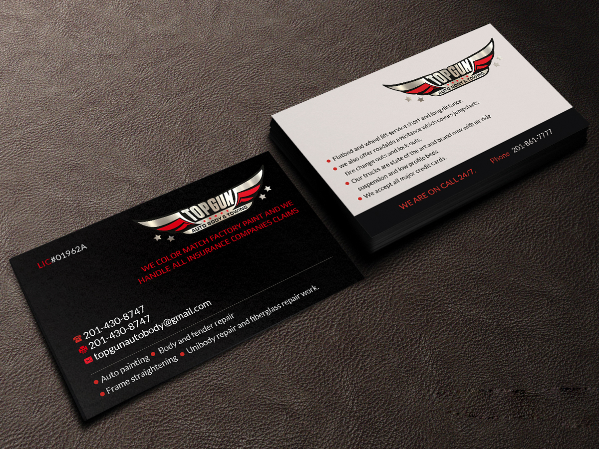Pretty Tow Truck Business Cards Contemporary - Business Card Ideas ...