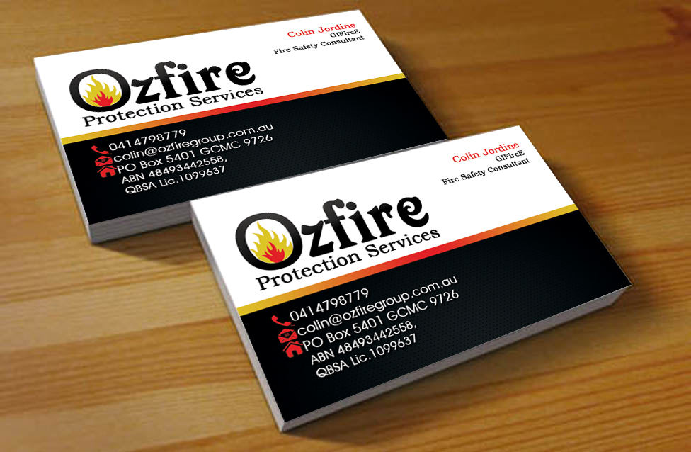 Fire safety business card design for a company by hardcore design business card design by hardcore design for this project design 2797320 colourmoves Image collections