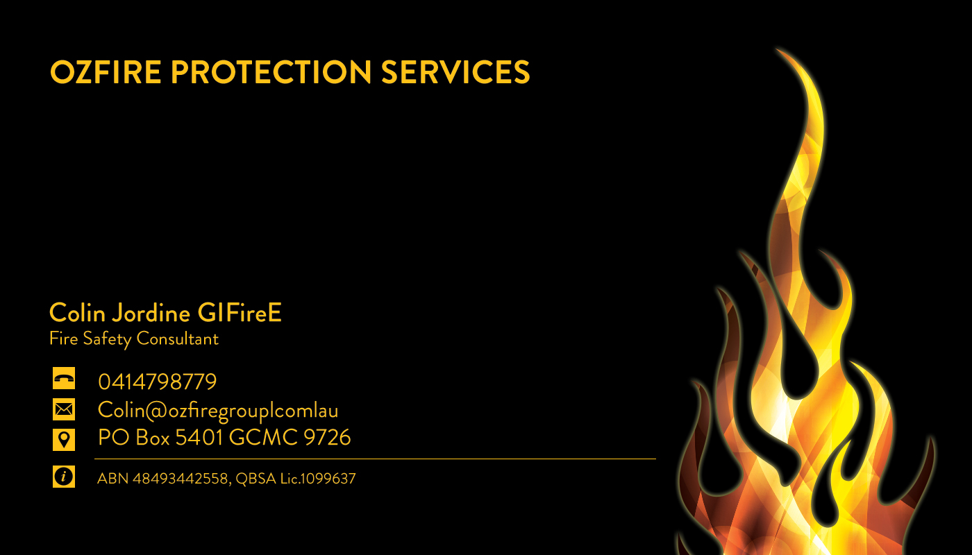 Fire safety business card design for a company by gurpreet kaur business card design by gurpreet kaur for this project design 2747765 colourmoves Image collections