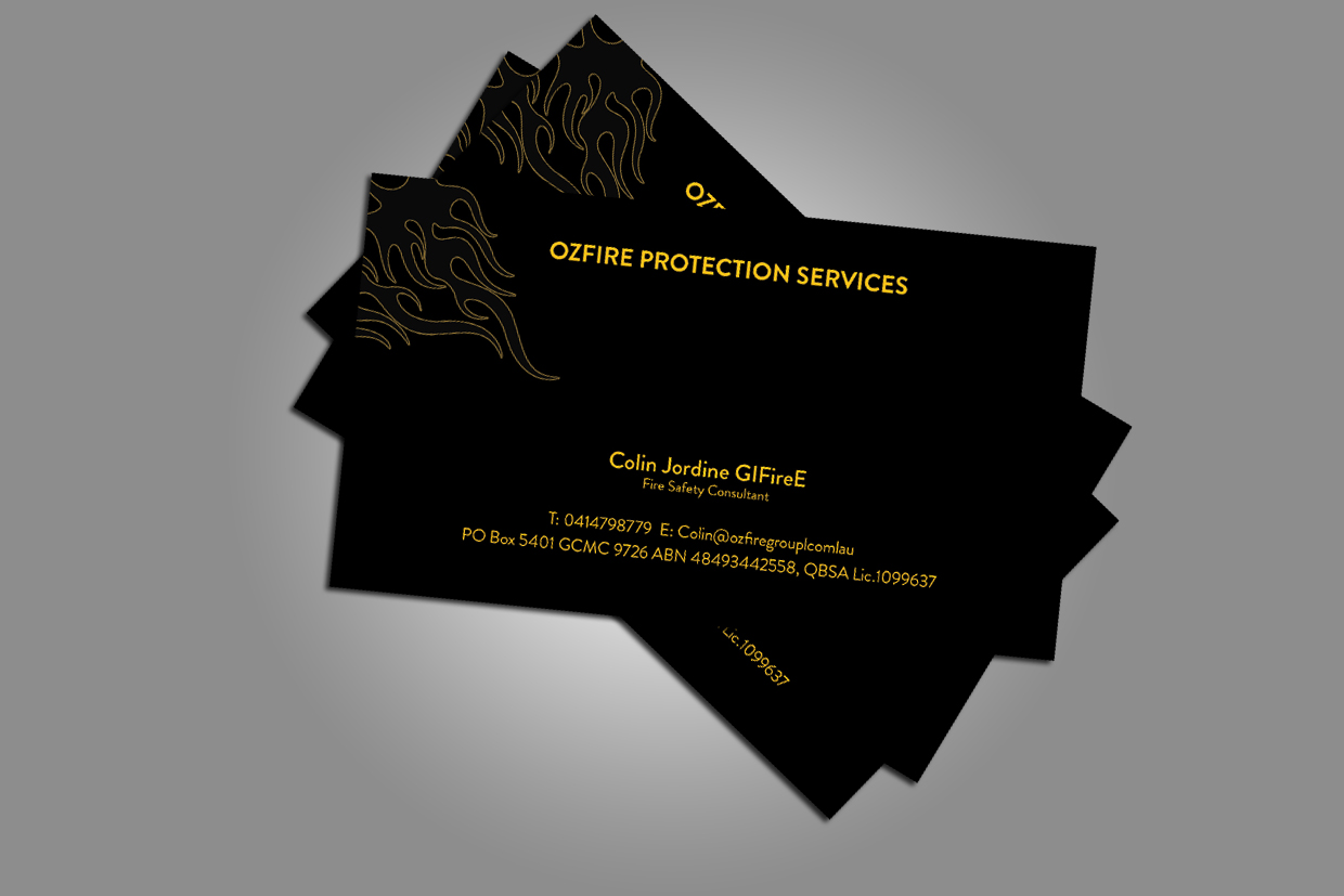 Fire safety business card design for a company by gurpreet kaur business card design by gurpreet kaur for this project design 2747773 colourmoves Image collections