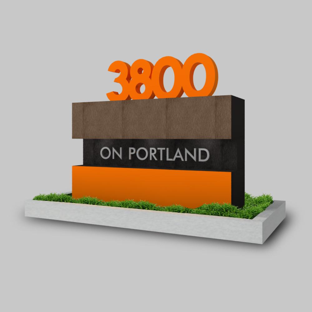 Bold, Modern, Apartment Logo Design for 3800 on Portland ...