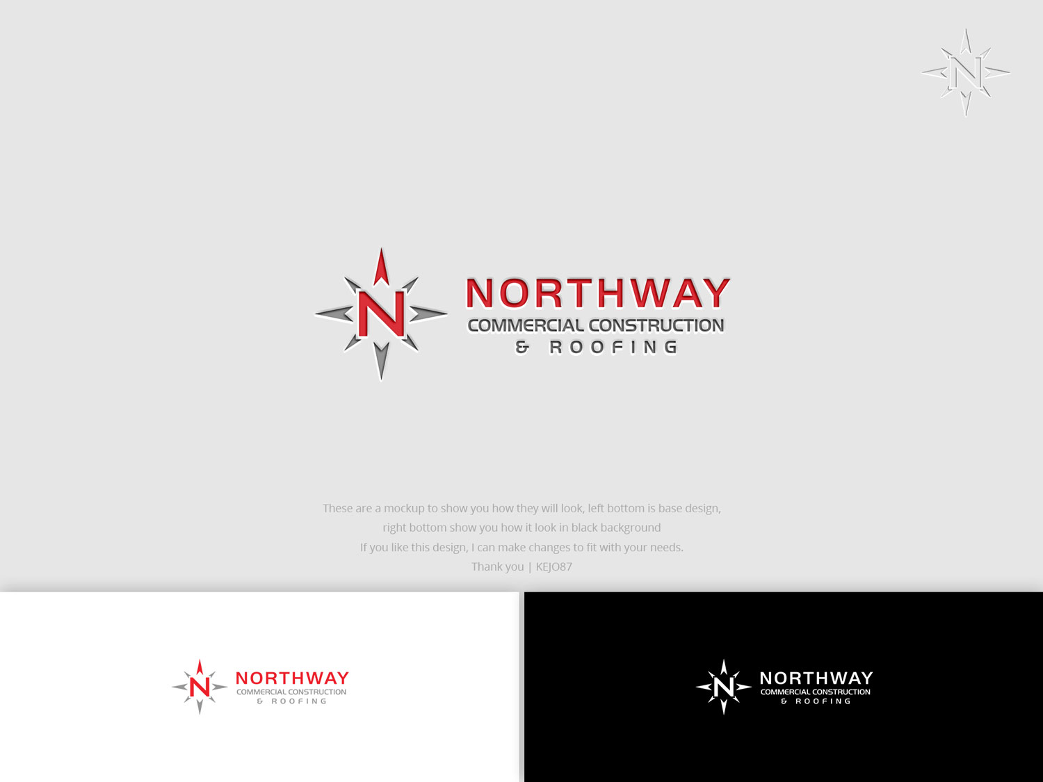 Bold Modern Construction Company Logo Design For Northway