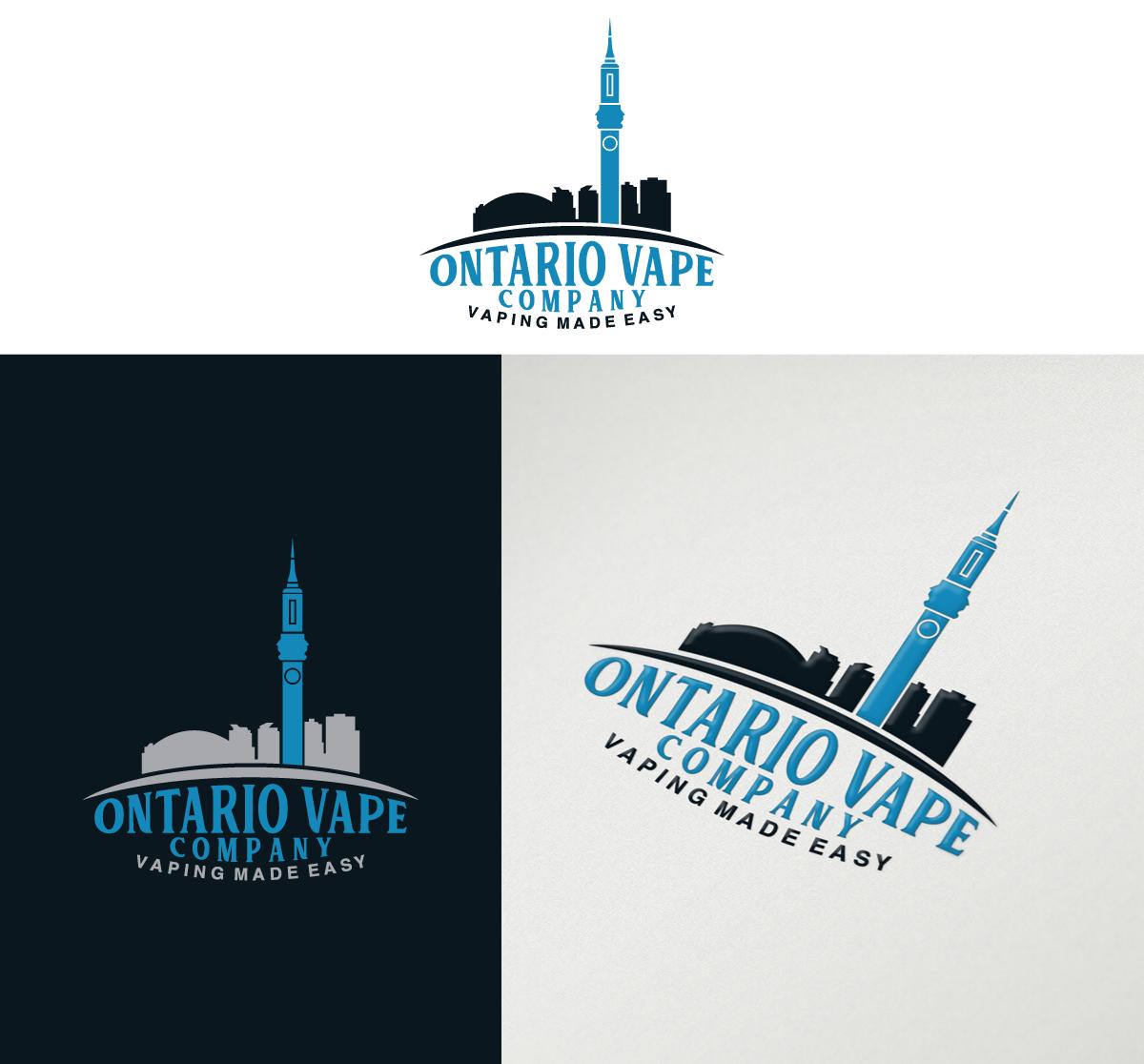 bold serious it company logo design for ontario vape company