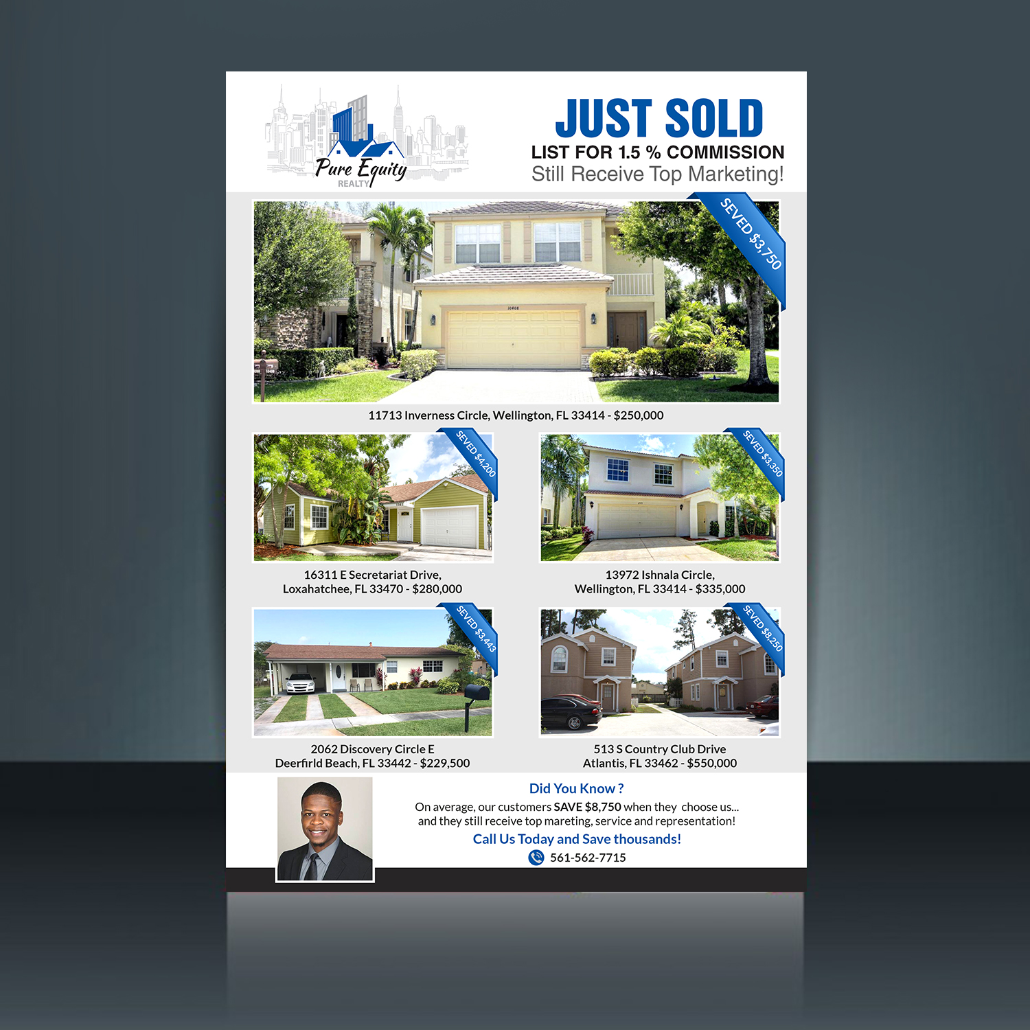real estate flyer design for a company by creative bugs design