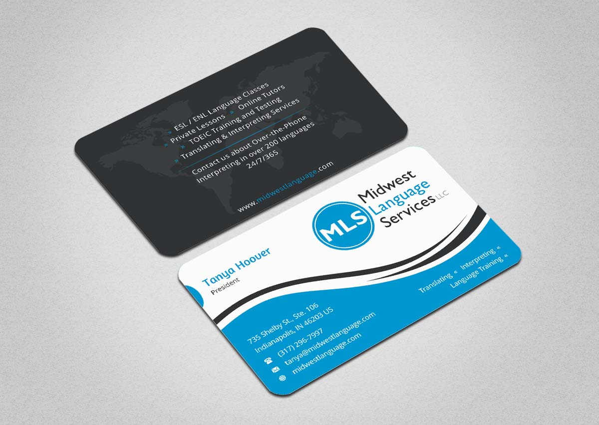Serious modern business business card design for midwest language business card design by indianashok for midwest language services llc design 17744298 reheart Choice Image