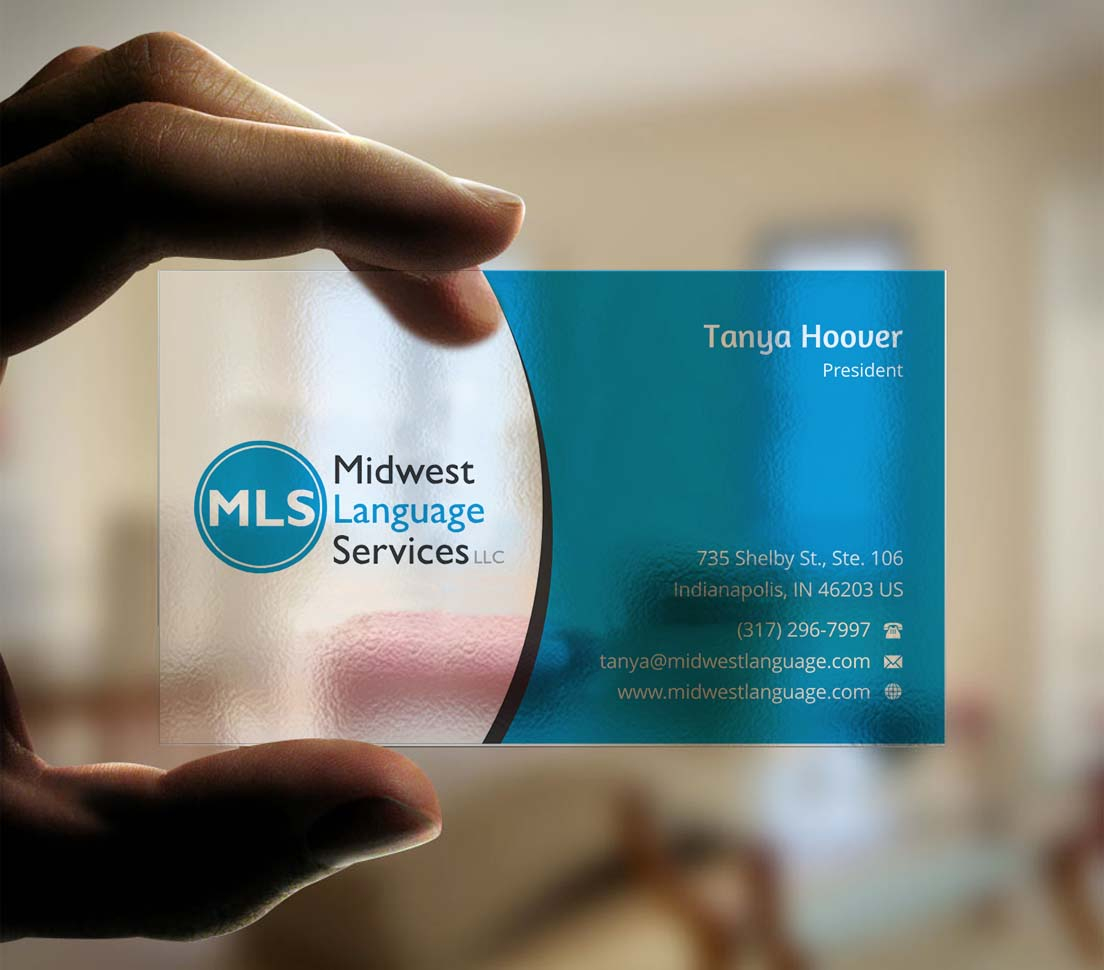 Serious modern business business card design for midwest language business card design by indianashok for midwest language services llc design 17744309 reheart Choice Image