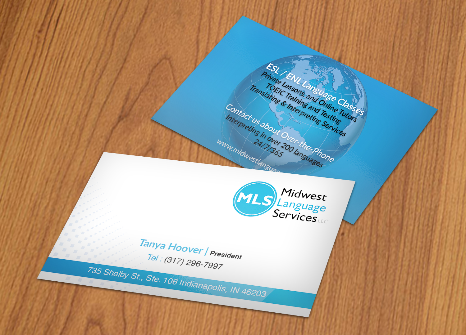 Serious modern business business card design for midwest language business card design by nuhanenterprise for midwest language services llc design 17741996 reheart Choice Image