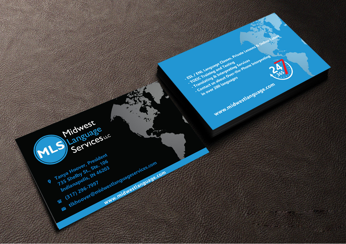 Serious modern business business card design for midwest language business card design by tornado for midwest language services llc design 17753148 reheart Image collections