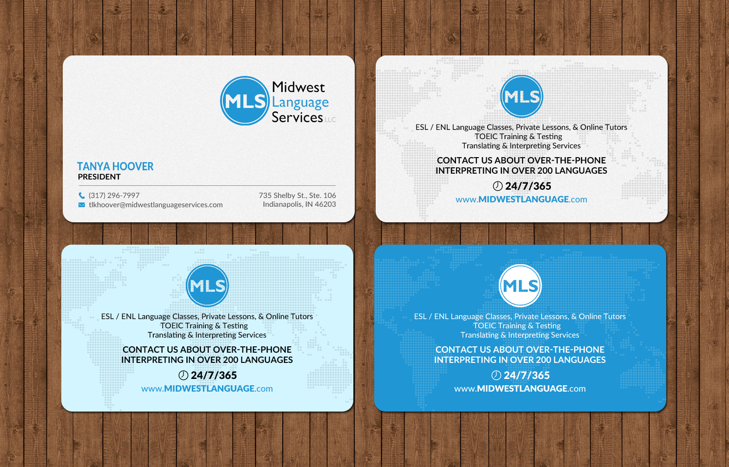 Serious modern business business card design for midwest language business card design by chandrayaaneative for midwest language services llc design colourmoves