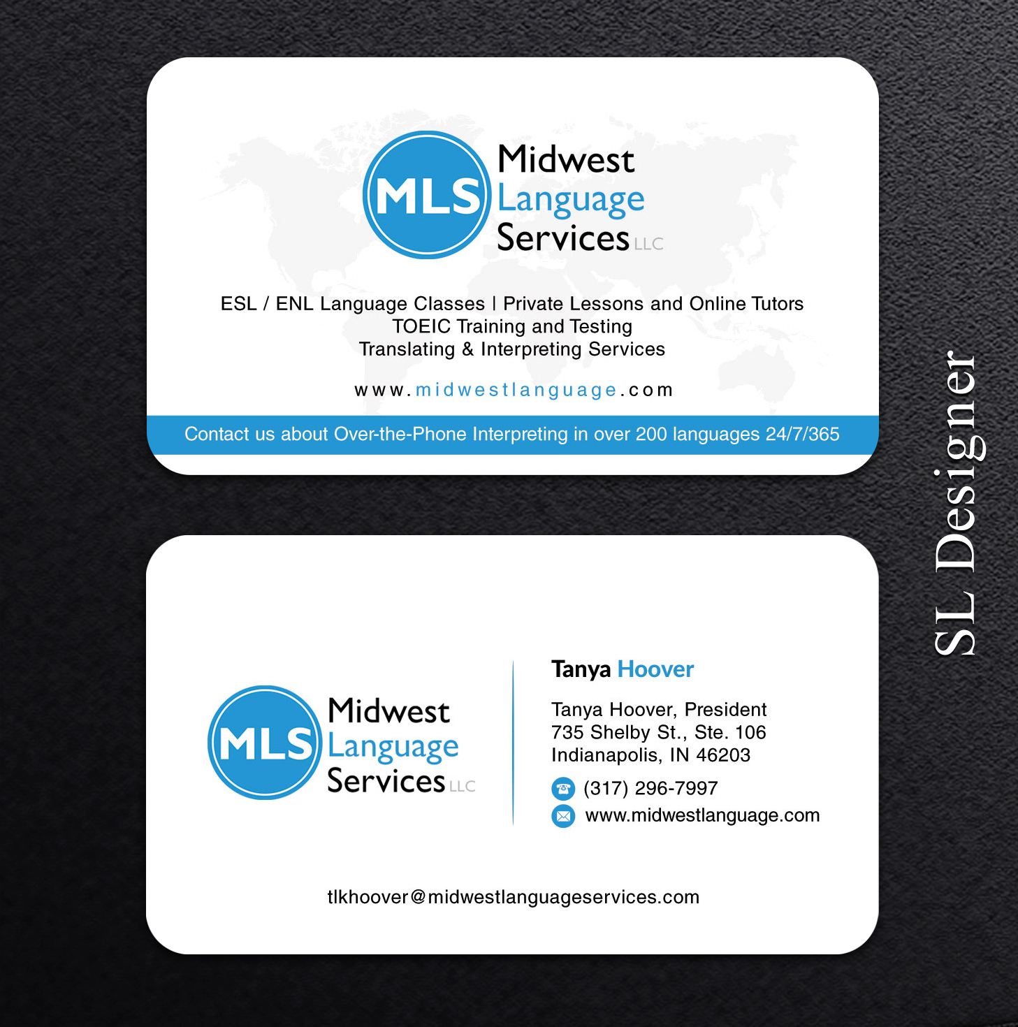 Serious modern business business card design for midwest language business card design by sl designer for midwest language services llc design 17748032 colourmoves