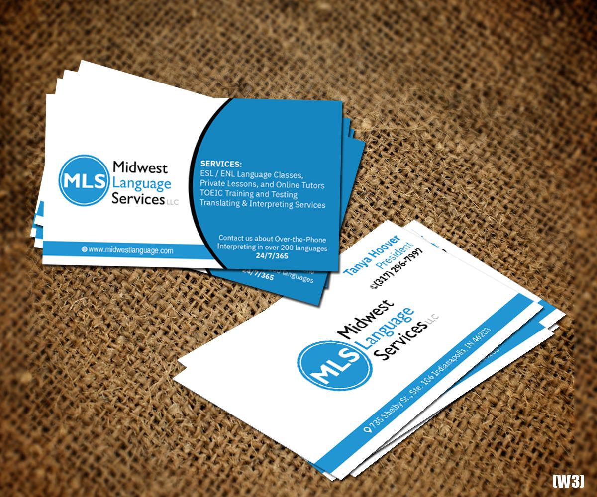 Serious modern business business card design for midwest language business card design by designanddevelopment for midwest language services llc design 17734950 colourmoves